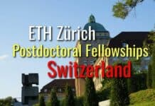 ETH Zurich Postdoctoral Fellowships (ETH Fellows) - Switzerland