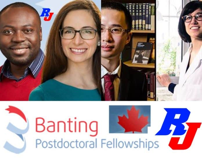Banting Postdoctoral Fellowships 2019 in Canada, Canadian