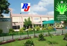 Teaching Position in Central University, Central University of Punjab, India