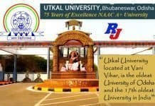 RUSA PDF Fellowship, Utkal University, Fellowship - 1,00,000 ₹/Month