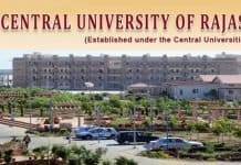 Faculty Position in Central University, CURAJ, Rajasthan, India
