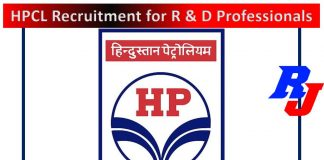 HPCL Recruitment for R & D Professionals - Apply Online, Total Post = 24
