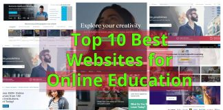 Top 10 Best Websites for Online Education – Tips for Lockdown Condition